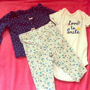 Whimsical baby girls floral outfit Love to Smile